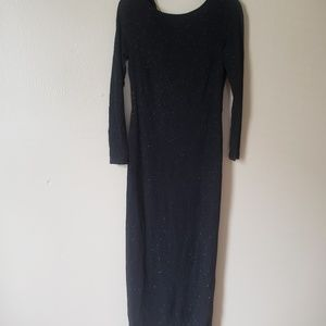 Black Long Sleeved Evening Dress- H&M-Size 10(NWT)